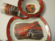Disney Cars Melamine Shaped Glitter Tablesetting