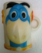 Vintage THE FLINTSTONE'S Chewable Vitamins DINO the DINOSAUR Kids Cup