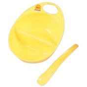 Piyo Piyo Cereal Bowl with Spoon, Yellow