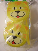 Animal Friends Lion Plastic Snack Containers with Spoon