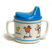 Baby Cie Melamine Dinnerware 2 Handle Tippy Cup - Farm Animals
