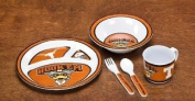 NCAA Texas Longhorns 5-Piece Kids' Dish Set