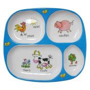Baby Cie Melamine Dinner Tray - Farm Animals