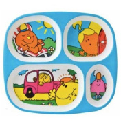 Petit Jour Paris Mr Men & Little Miss Melamine Plate - Four Compartments