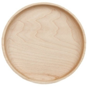 Camden Rose Small Maple Wooden Plate, 15.9cm dia