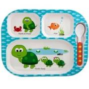 Tray-Spoon-Lid Set Turtle
