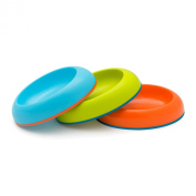 Boon Dish Edgeless Stayput Bowl, Blue/Green/Orange