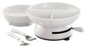 Stixx Suctionware Kids Set; Set Includes Bowl, 17.8cm Sectional Plate, Fork and Spoon