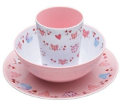 Miniamo Cupcakes Kids' Melamine Serving Set of 3 - Plate, Bowl, Tumbler