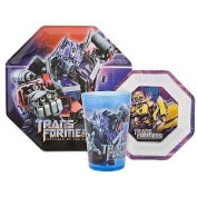 Transformers Revenge of the Fallen Dinnerware 3pc