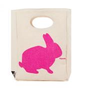 Fluf Organic Cotton Lunch Bag, Bunny