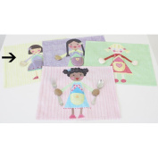 The Little Acorn Placemat, Purple Girl