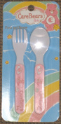 Care Bears Baby Fork & Spoon Utensils - Mint Green, Pink or Lavender