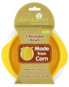 Dandelion Reusables Bowls, 2 Pack