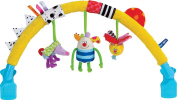 Taf Toys Kooky Arch Stroller Toy with 3 Rattling Toys, Clips Easily to Most Strollers and Bouncers