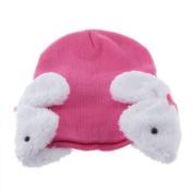 YKS Baby Toddler Kids Boys Girl Winter Ear Flap Warm Hat Beanie Cap Crochet Rabbit Deep Pink