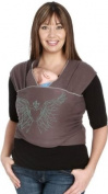 Moby Wrap Baby Carrier - Slate Silkscreen Wings
