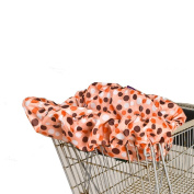 Wupzey Compact Baby Shopping Cart and Diner Seat Cover - Orange Polka Dots