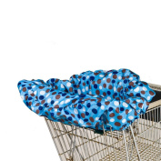 Wupzey Compact Baby Shopping Cart and Diner Seat Cover - Blue Polka Dots