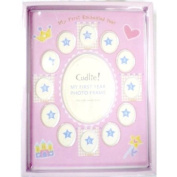 My 1st Year Baby Photo Frame in Pink for Girls