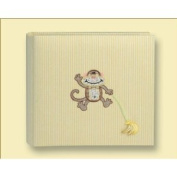 HOM Home Essence Yellow Monkey Face Baby Child Photo Album 2-Up