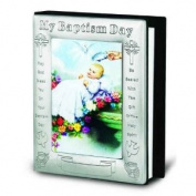 My Baptism Day Pewter Photo Album with Certificate (Boxed) 14cm X 17.8cm Overall Size Holds 72 Photos