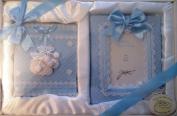 Tiny Treasures Baby Blue Keepsake Photo Album & frame by Stephan