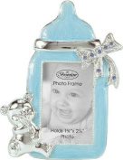Boy Baby Bottle Photo Frame With Rhinestone Accent
