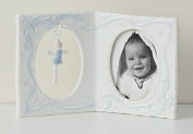 10.2cm Boy Baby Frame with Cross