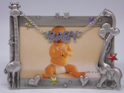 "6.10.2cm Baby"" with Giraffe & Elephant"