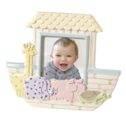 Grasslands Road Dot Dot Dot Stoneware Frame, Noah's Ark Animal, 20.3cm by 23.5cm , Holds 10.2cm by 10.2cm Photo