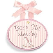 Li'l Boutique Wooden Door Hanger - Pink by Gund Baby [Baby Product]