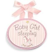 Li'l Boutique Wooden Door Hanger - Pink by Gund Baby [Baby Product]