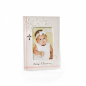 Nat and Jules Baby's Christening Frame, Pink