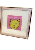 "Cat Baby Wall Art Wood Frame - ""You're purrfect"""