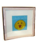 "Chick Baby Wall Art Wood Frame - ""Chicks Rule"""