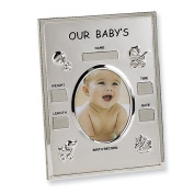 Metal Birth Record Photo Frame