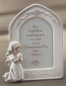 21cm Girl Bisque Communion Frame