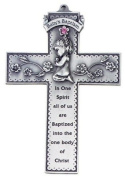 Baby Girl Baptism 12.7cm Pewter Cross