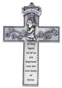 Baby Girl Baptism 12.7cm Pewter Cross