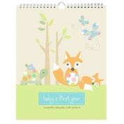 Pepper Pot Baby's First Year Keepsake Calendar, Forest Family