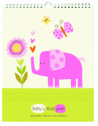 Pepper Pot Baby's First Year Keepsake Calendar, Jungle Friends Girls