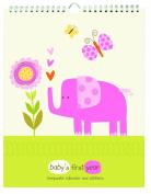 Pepper Pot Baby's First Year Keepsake Calendar, Jungle Friends Girls