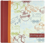Sybille Lichtenstein Slim Compact Journal Album for Photos, Toot-Toot