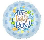 It's a Baby Boy Feet 45.7cm Mylar Double Sided Balloon