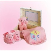 Aurora Plush Baby Girl Comfy Gift Set