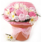 WMU Nikki's Baby Blossom Clothing Bouquet Gift- Girl