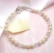 Baby Bridal Pearls Heirloom Bracelet 4 yrs & up