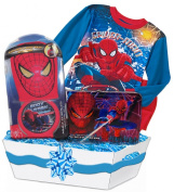 "Baby Boutique Boy's ""Spiderman Deluxe Gift Basket,"" Featuring Spiderman Pyjamas, Bath Toy Set, Genuine Marvel Spiderman Tin Lunch Box, Age"