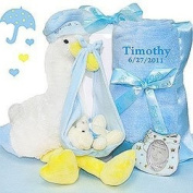 Stork Delivery Gift Set for Boy by Baby Gift Basket